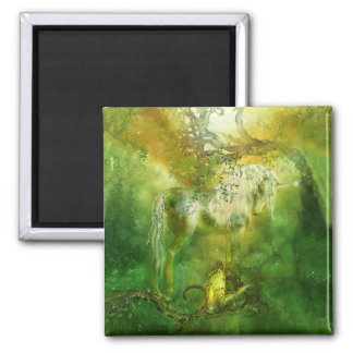 Unicorn Of The Forest Art Magnet