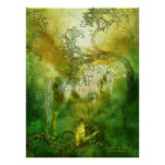 Unicorn Of The Forest Art Poster/Print