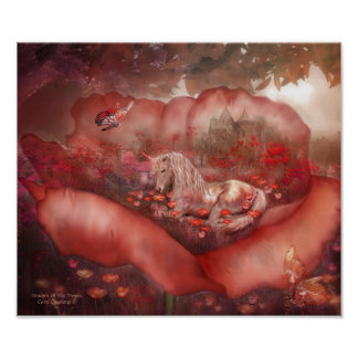 Unicorn Of The Poppies Art Mural Posters