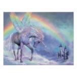 Unicorn Of The Rainbow Art Poster/Print Poster