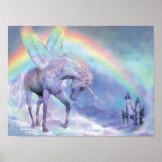 Unicorn Of The Rainbow Art Poster/Print Poster