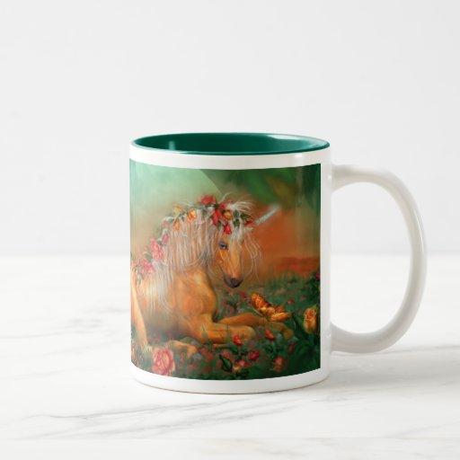 Unicorn Of The Roses Art Mug