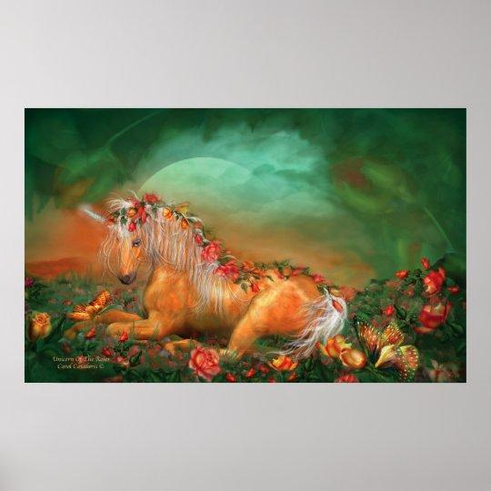 Unicorn Of The Roses Art Poster/Print Poster