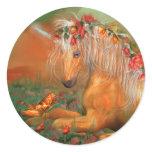 Unicorn Of The Roses Art Sticker