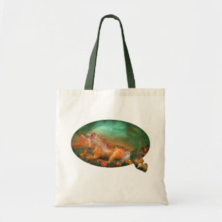 Unicorn Of The Roses Art Tote Bag
