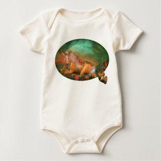 Unicorn Of The Roses Infant Organic Creeper