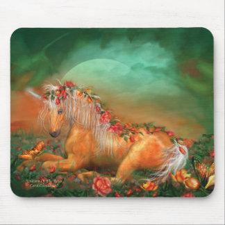Unicorn Of The Roses Mousepad