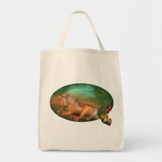 Unicorn Of the Roses Organic Grocery Tote