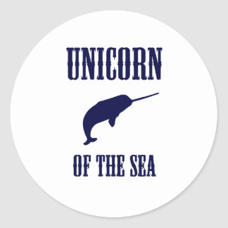 Unicorn of the Sea (Narwhal) Classic Round Sticker