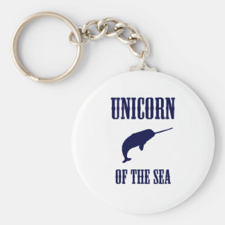 Unicorn of the Sea (Narwhal) Basic Round Button Keychain