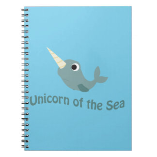 Unicorn of the Sea Spiral Notebook