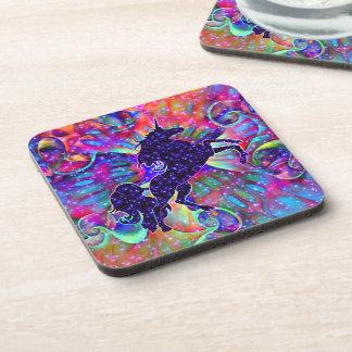 UNICORN OF THE UNIVERSE multicolored Coaster