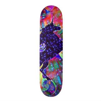 UNICORN OF THE UNIVERSE multicolored Skateboard