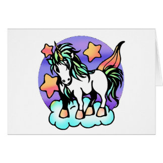 unicorn on a cloud greeting cards