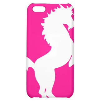 Unicorn on bright pink background iphone case iPhone 5C cover