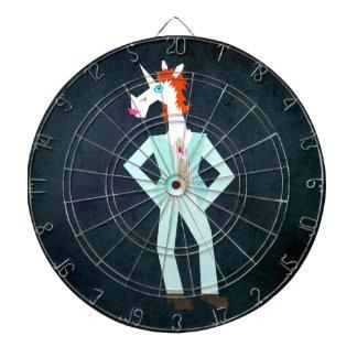 Unicorn On Mars Dartboard With Darts
