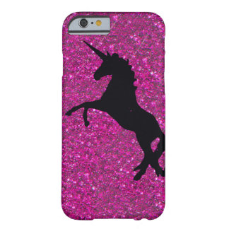 unicorn on pink glitter barely there iPhone 6 case