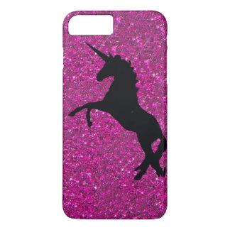 unicorn on pink glitter iPhone 7 plus case