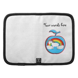 Unicorn on rainbow in apple folio planners