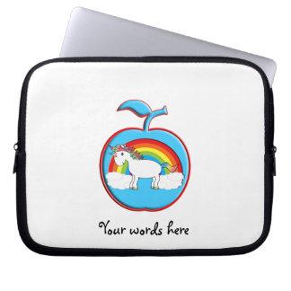 Unicorn on rainbow in apple laptop sleeve
