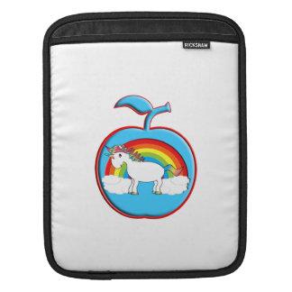 Unicorn on rainbow in apple sleeve for iPads