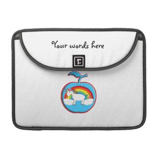 Unicorn on rainbow in apple sleeve for MacBooks
