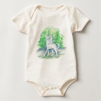 Unicorn Organic Infant Baby Bodysuit
