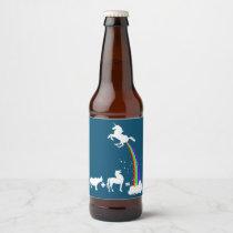 Unicorn origin beer bottle label