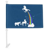 Unicorn origin car flag