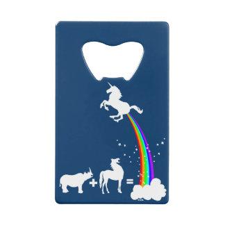 Unicorn origin credit card bottle opener