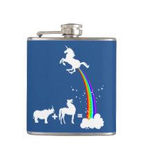 Unicorn origin hip flask