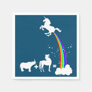Unicorn origin napkin