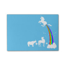 Unicorn origin post-it notes