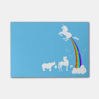 Unicorn origin post-it notes