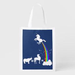 Unicorn origin reusable grocery bag
