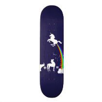 Unicorn origin skateboard deck