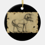 Unicorn Double-Sided Ceramic Round Christmas Ornament