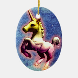 Unicorn Ornament - Oval (Galaxy Shimmer)