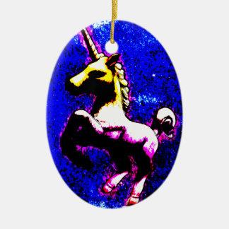 Unicorn Ornament - Oval (Punk Cupcake)