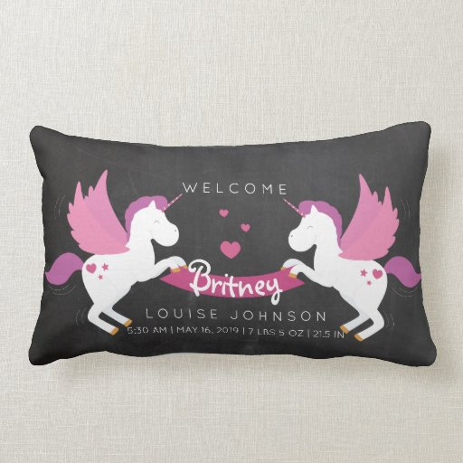 Baby Pillow Cushion Birth Data Unicorn Scatter Cushions points Slogan Cushions ks156