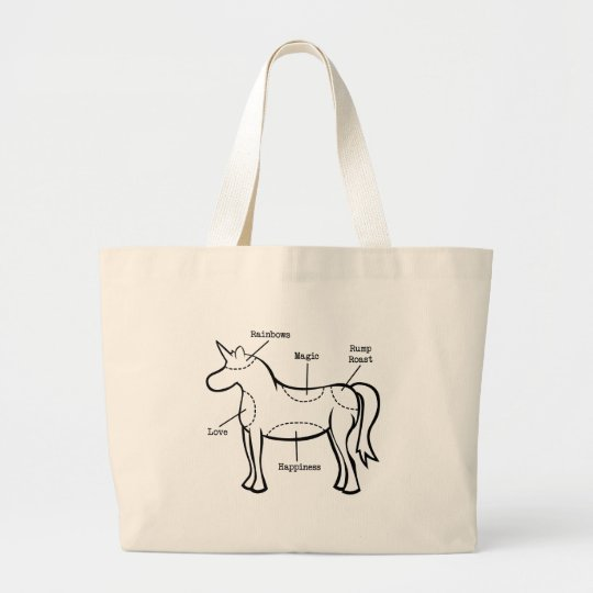 Unicorn Parts Large Tote Bag