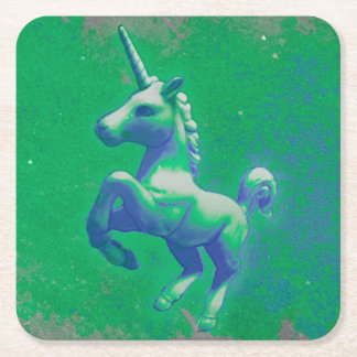 Unicorn Party Coasters (Glowing Emerald)