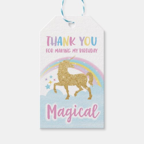 Unicorn Party Favor Tags