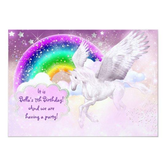 Unicorn Party Invitation