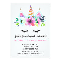 Unicorn Party Invitation - Magical Celebration