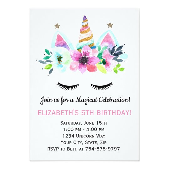 Unicorn Party Invitation Magical Celebration Zazzle Com