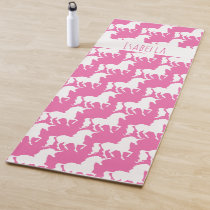 Unicorn Pattern Personalized Pretty Pink Yoga Mat