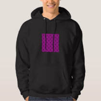 unicorn pattern pink hoodie