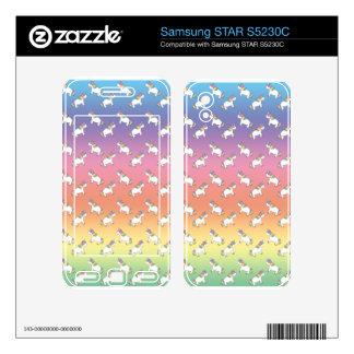 Unicorn pattern samsung STAR S5230C skins