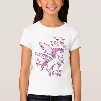 Unicorn Pegasus Hearts  T-Shirt